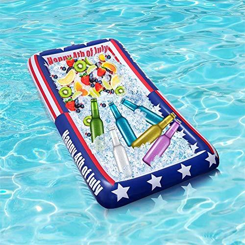 Buffet Tablett leichte amerikanische Flagge Kühler Bar Essen Getränkehalter für Pool-Party, BBQ, Cookouts, Sport, Camping und Versammlung ()