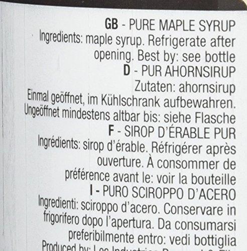 Kanadischer Ahornsirup Grad A (Very dark, Strong taste) - 1 Liter (1,32 Kg) - Original Maple Syrup
