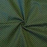 Baumwollstoff Hemden Qualität Tupfen Mini MeterwareTannen-Grün