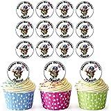 Pirata 30personalizado comestible cupcake toppers/adornos de tarta de cumpleaños–fácil troquelada círculos