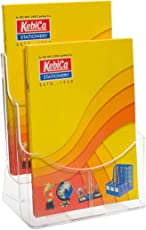 Kebica 2 Compartments Brochure Stand Pamphlet Leaflet Marketing Holder A4 Size (8.3 x 11.7 inches)