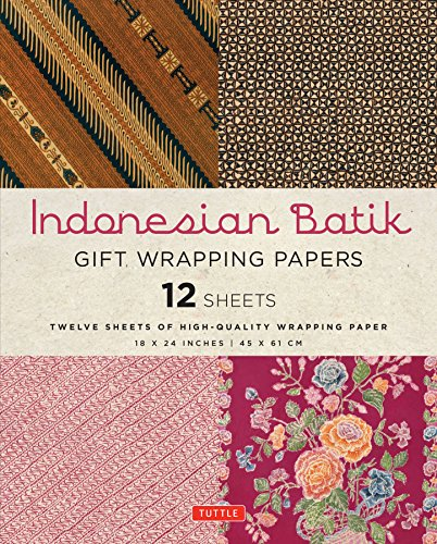 Gift wrapping papers indonesian batik