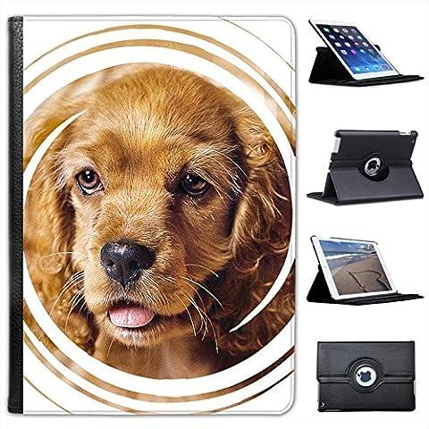 Fancy A Snuggle Étui-support en similicuir pour iPad Motif chiens
