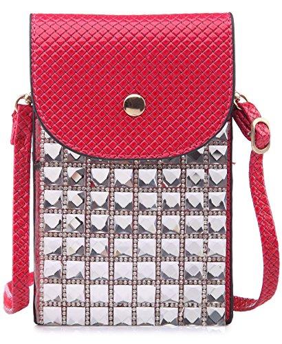 Big Handbag Shop - Borsa a tracolla bambina (Rosa intenso)