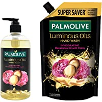 Palmolive Luminous Oils Invigorating Liquid Hand Wash - 500 ml Pump with Refill Pack - 750 ml