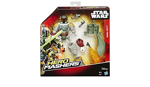 Star Wars B3667 Hero Mashers Boba Fett Deluxe 15cm Figur Kind Boys Spielzeug