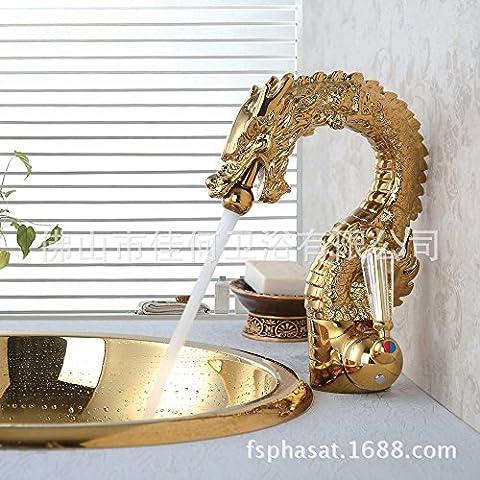 Maifeini Toilet _ High-End Dominant Dragon Gold Antique Crystal Three
