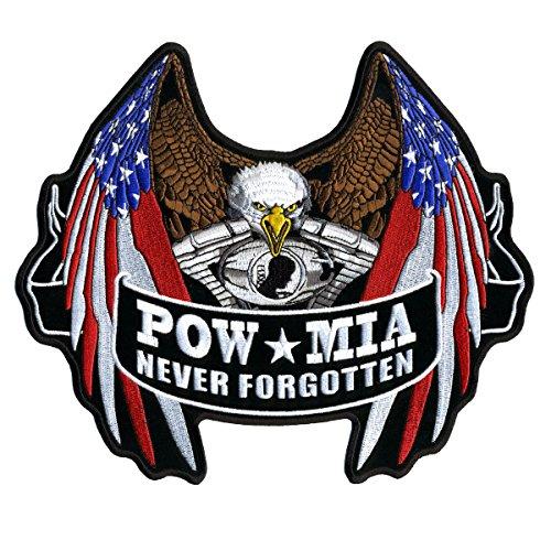pow-flag-eagle-pow-mia-never-forget-high-quality-iron-on-saw-on-rayon-velcro-patch-5-x-4