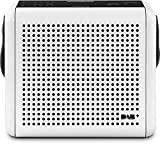 Nordmende Transita 110 / Digital-Radio mit Tragegriff aus Leder, portabel, DAB+, UKW, mit OLED-Display, 2 Watt RMS, weiß