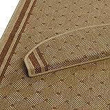 Teppich Läufer beige-terra mit rautenförmigem Muster | Qualitätsprodukt aus Deutschland | kombinierbar mit Stufenmatten | 3 Breiten und 18 Längen (80 x 300cm)