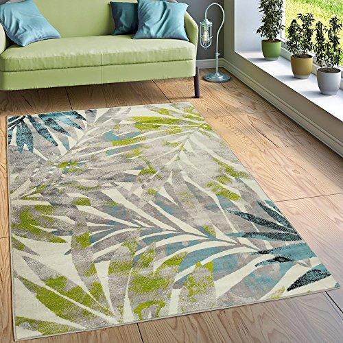 dschungel teppich Paco Home Designer Teppich Wohnzimmer Ausgefallen Farbkombination Jungle Design Mehrfarbig, Grösse:80x150 cm