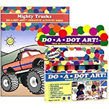 Do A Dot Art Marker Rainbow 6-pack Activity Book Gift Set - Mighty Trucks by Do A Dot Art