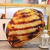 BBQBQ Toys Funny Creative Pillow 3D Doll Cuscino Cuscino Braciole di Maiale alla griglia 60cm