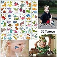 Dream Loom Fiesta de Cumpleaños de Tatuajes temporales para Niños, Dinosaur Party Party Supplies Favors, Pegatinas de Tatuajes Extraíbles para Niños Niñas (Tatuajes de Dinosaurios, 36 Hojas)