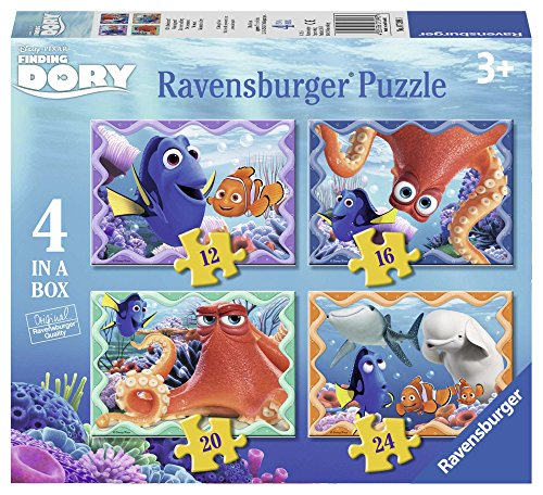 Ravensburger Disney Finding Dory 4 in Einer Box (12, 16, 20, 24-) Puzzle