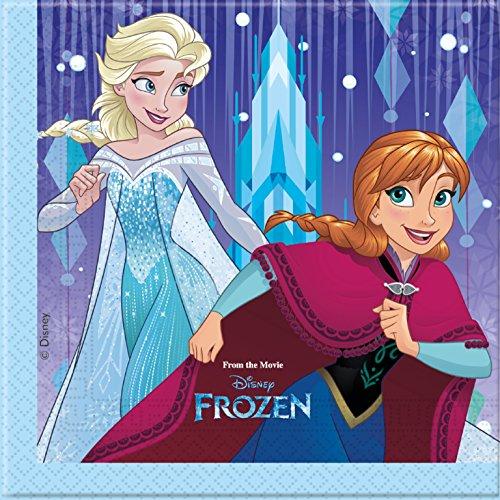 EN SCHNEEFLOCKE * von Disney für Kindergeburtstag oder Motto-Party // Party Partyservietten Napkins Motto Eiskönigin Anna Elsa Olaf Prinzessin Snow Schnee Flake (Schneeflocke Servietten Und Teller)
