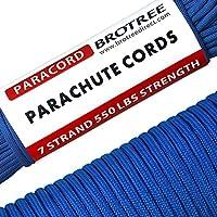 Brotree Paracord 550 Schnur mit 7 Strängen Nylonschnur Fallschirmschnur Typ III Mil Spec Survival Seil 250 KG Bruchfestigkeit (Standard, Reflektierende)