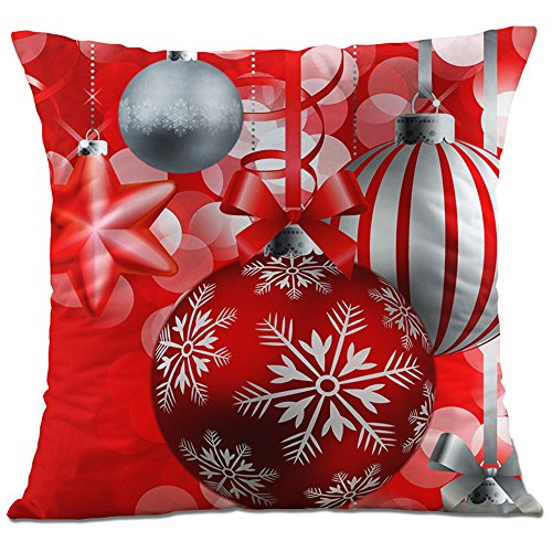 3bce452da7 Hangood Divano Federa Cuscini Flanella Decorazioni per la Casa Palla di  Natale 45cm x 45cm
