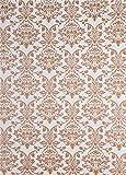 50 Blatt Weiß Dekorpapier mit Ornament-Muster in Perlmutt-Gold, 180x250mm, handgemacht, 150g, orientalischer Look, ideal für Einladungskarten, Hochzeit, Taufe, Weihnachten, Basteln, Dekorationen