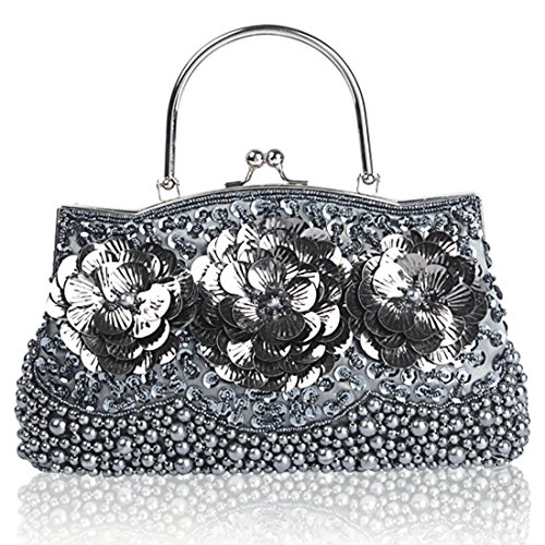 HT Sequined Clutch Bags, Poschette giorno donna Black