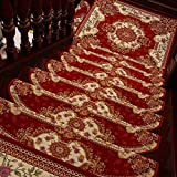 Stufenmatten YANFEI, Teppich Treppenpedal Anti-Rutsch-Set von 7 Treppenmatten Kleber frei Selbstklebende Starke Anti-Rutsch-Silent-Rauschunterdrückung (24 * 64 * 3 cm, 24 * 75 * 3 cm, 24 * 80 * 3 cm)