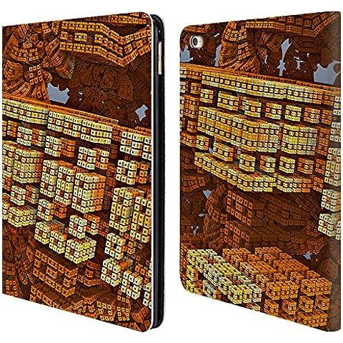 Ufficiale Sven Fauth Blocchi Frattali 2 Cover a portafoglio in pelle per Apple iPad Air 2