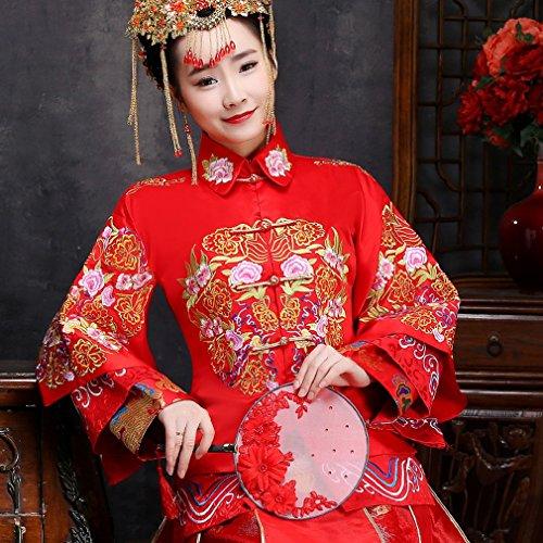 QP Chinesische Küche Wo Männer Kleider Brautschmuck Frauen Lautsprecher shangrique Kleider Kleider Brautschmuck Chinesische mit hoher Größe rot, UNE, XXS (Costume De Mariage Gris)