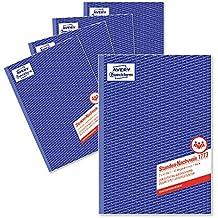 Avery Zweckform 1773-5 Stunden-Nachweis (A4, selbstdurchschreibend, 2x40 Blatt) 5er Pack, weiß/gelb