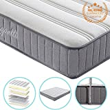 Vesgantti 8.6 Inch Economic Design 4ft6 Double Medium Soft Spring Mattress - with Breathable and Smooth Surface and High Density Comfy Foam, Multiple Sizes Available - Max 100kg