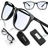 Dappere blauwe lichtblokkerende computerbril met anti-schittering duidelijke lens voor PS4, werk, gaming; anti-oogdruk, hoofd