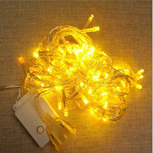 10M 100 LED 8 Mode, VSOAIR 10M 100 LED String étanche pour Intérieur et Extérieur, Noël Blanc Chaud