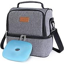 Lifewit Borsa Termica Manutenzione di Freddo e Caldo Porta Pranzo Cibo  Alimentazione Lunch Box da 7Litri 4978b59c65e