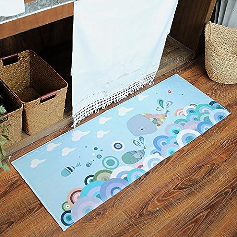 FQG* larga cocina esterillas recepción en la puerta mat dormitorio, sala de estar, saugfüße 40*60cm Bad Rutschfeste mate (3-Pack) , la Wal Fei Fei