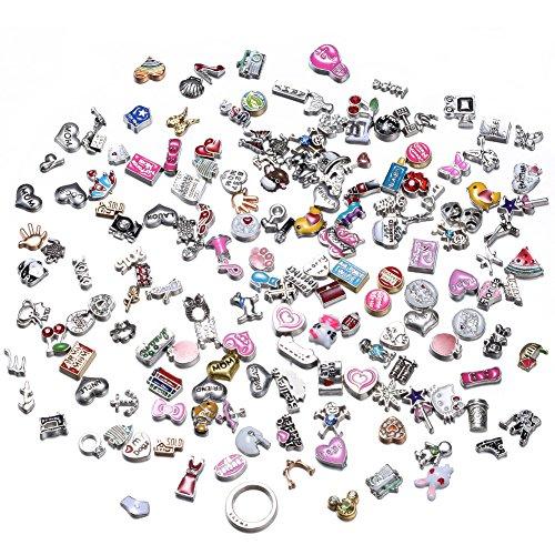 rinhoo 200Stück handgefertigt Charms für Glas Living Memory Medaillon (Living Memory Medaillon)