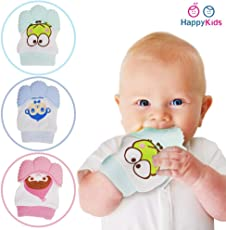 Baby Grow Teething Mitten for Infants Baby Boys & Girls Silicone Teething Mitt Teether Gloves BPA Free Self-Soothing Pain Relief Mitt Teething Toys Ideal Baby Shower Gift 1 Pcs Pack (Pink)