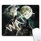 Alfombrilla de Ratón de Juego Lobo de Luna,Mouse Pad Mat Tela Base de Caucho Compatible con...