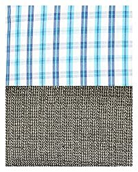 Siyarams Mens Shirt and Trousers Fabrics (Multi-Coloured and Grey )