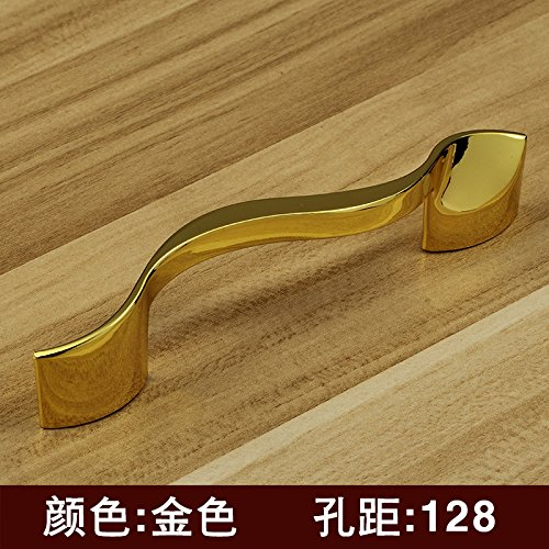 DaMonicv Moderno minimalista small bright chrome maniglia porta armadio di abbigliamento armadio maniglia del cassetto maniglia bianco,oro foro 128MM