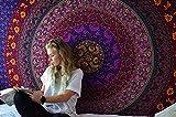 RAJRANG BRINGING RAJASTHAN TO YOU Psychedelic Tapestry Azul Mandala - Wall Hanging Tapiz Bohemio Indio Hippie Tapices Hindu Casa Decorativo - Azul y Purpura - 213 x 137 cm