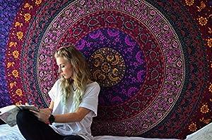Psychedelic Tapestry Azul Mandala -