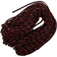 Cuerda del paracaidas - SODIAL(R) Paracord Cuerda del paracaidas, con 7 hilos, 550 lbs, 100 ft - Camuflaje rojo