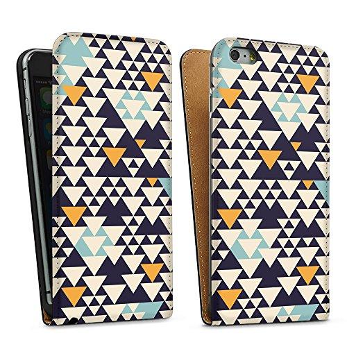 artboxONE Premium-Handyhülle iPhone 5/5S/SE Bodart Pattern I - Geometrie - Smartphone Case mit Kunstdruck hochwertiges Handycover kreatives Design Cover von Florent Bodart Downflip Case schwarz