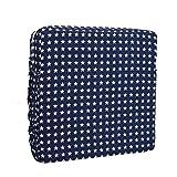 Hosaire 1x Kinder Sitzkissen Tragbar Sitzerhöhung für Baby Stern-Muster Sitzpolster mit Seitentasche 32 * 32 * 8cm Blau