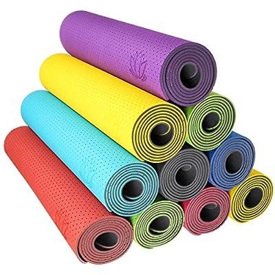Body & Mind Yogamatte - umweltfreundliche, hypo-allergene Yoga TPE-Matte - extrem rutschfest, weich und schadstoff-frei - 183 x 61 x 0,5cm inkl. Trageschlaufen