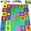 Deuba Tappeto Puzzle Bambini 1,92x1,92m Nuovo Modello Gomma Eva Resistente Isolante Lavabile Gioco per Bambini Tappeto da Gioco Tappetino