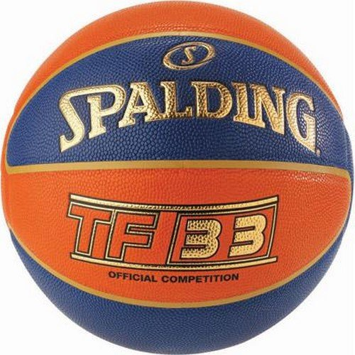 Spalding Tf33 Basketball Ball, orange/Blau, 6