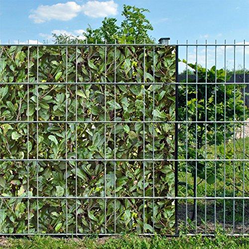 Indéformable brise-vue en 100 % pES, 26 x 19 cm rouleau/motif müller münchehof lauriers - : cerises