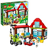 LEGO 10869 DUPLO Town Farm Adventures Building Set, with Tractor and Animals Figures, Toy for Kids Age 2-5