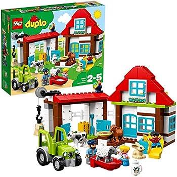 Play Build 123 Pc City Building Blocks /& Minifigures Set Duplo Compatible