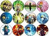 SPQR Lego Ninjago–Buttons/Schlüsselanhänger/Flaschenöffner/Magnete, Stahl Kunststoff, Ninja Collection, Magnet (58mm)